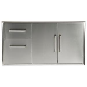 CoyoteCombination Storage: Two Drawer Cabinet & Double Access Doors