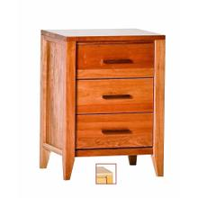 View Product - Luna 3 Drawer Nightstand