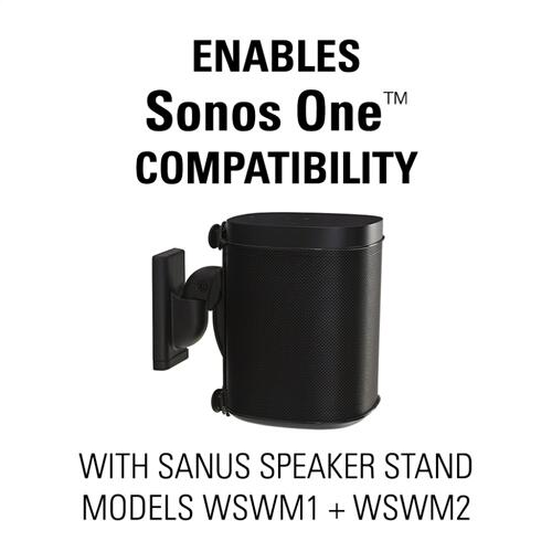Black Sonos One Compatible Adapter Bracket for the SANUS Wireless Speaker Wall Mount