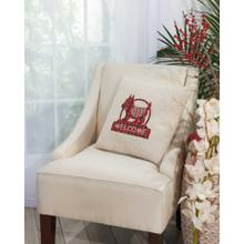 """Home for the Holiday L1605 Natural 17"""" X 17"""" Throw Pillow"""