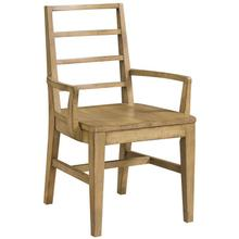 Ember Grove Wood Seat Slat-Back Arm Chair