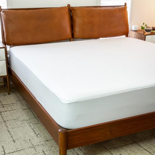 Premium Fitted 100% Waterproof-Hypoallergenic Vinyl Free Mattress Protector - Breathable Smooth Fabric Surface, Full Size