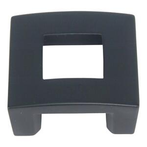 Centinel Square Knob 1 1/4 Inch (c-c) - Matte Black Product Image