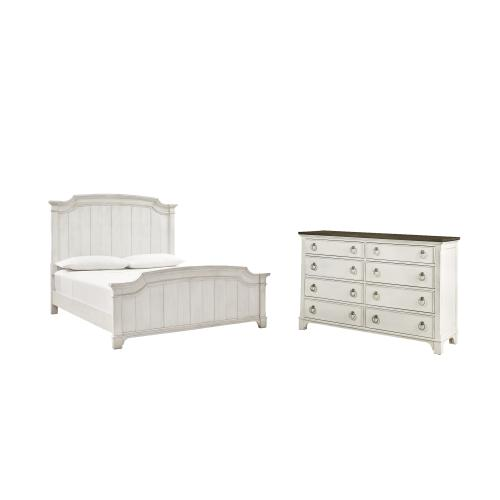 Product Image - King Panel Bed With Dresser