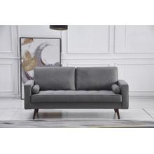 See Details - 8113 LIGHT GRAY Linen Stationary Sofa