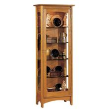 Mirrored Back, Oak Display Cabinet