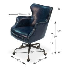 Andrew Jackson Desk Chair, Chateau Blue