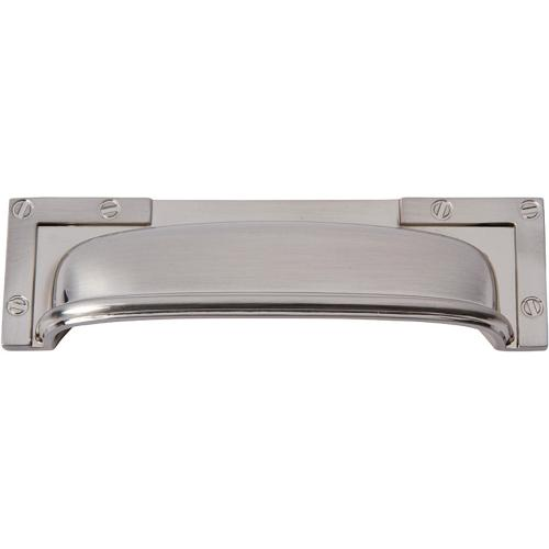 Campaign L-Bracket Cup Pull 3 3/4 Inch (c-c) - Brushed Nickel