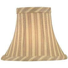 "Candelabra Shade/beige Striped - 3""tx6""bx5""sh"