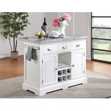 Zermatt 2-Piece Grey Marble Kitchen Island
