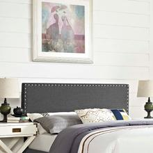 View Product - Phoebe Queen Upholstered Fabric Headboard in Gray