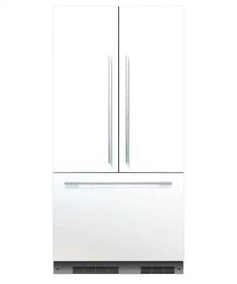 Integrated refrigerator handle kit