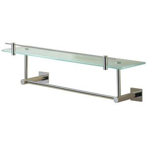Braga Glass Shelf With Gallery and Under Rail, 24""