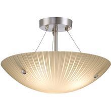 Semi-flush Mount Lamp, Ps/frost Glass Shade, E27 A 60wx3