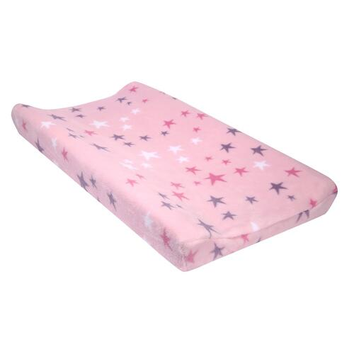 Rainbow Unicorn Pink/Purple/White Stars Changing Pad Cover