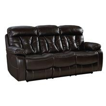 Peoria Manual Motion Dropdown Table Sofa, Brown