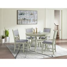 Amherst White Dining Set - Table and 4 chairs