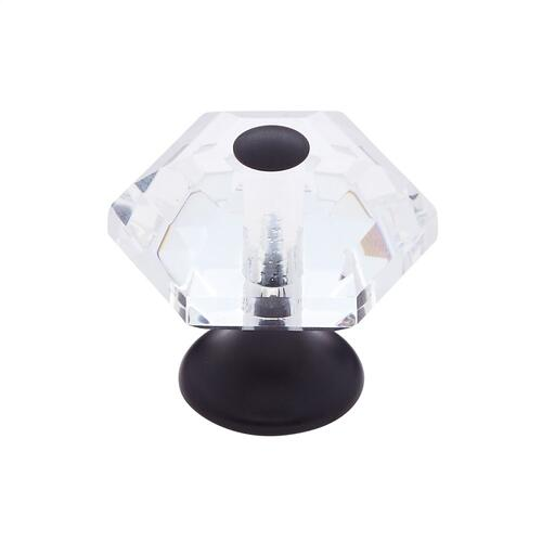 Oil Rubbed Bronze 30 mm 6-Sided Crystal Knob