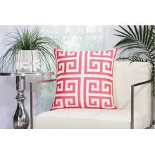"Outdoor Pillows As047 Hot Pink 20"" X 20"" Throw Pillow"