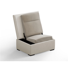JumpSeat Ottoman, Limestone Cover / Almond Seat