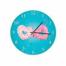 Donuts Love Round Acrylic Wall Clock