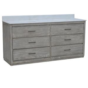 """Richmond 4 Drawer 72"""" Double Vanity Sink Product Image"""