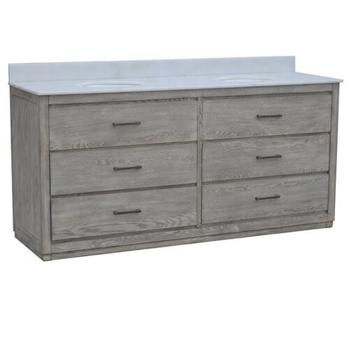 """See Details - Richmond 4 Drawer 72"""" Double Vanity Sink"""