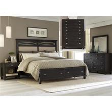 View Product - Queen Storage Bed, Dresser & Mirror, Chest, NS