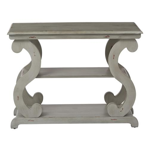 Office Star - Ashland Console Table In Antique Grey Finish
