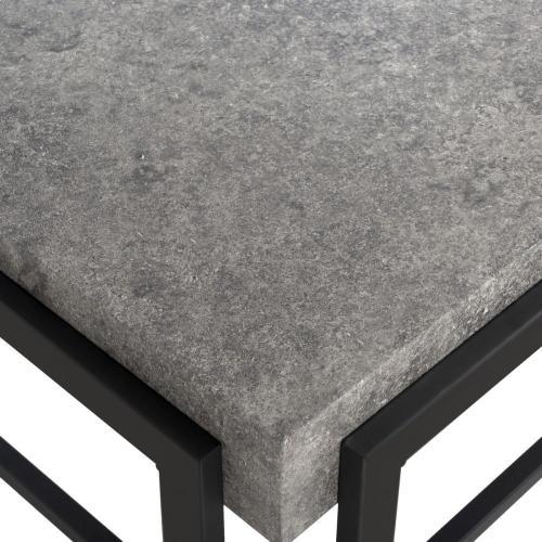 Safavieh - Oliver Rectangular Contemporary Coffee Table - Dark Grey / Black
