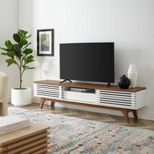 "See Details - Render 70"" TV Stand in Walnut White"