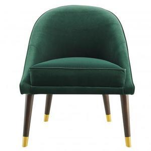 Avalon Velvet Accent Chair - Green