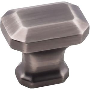 """1-1/4"""" Overall Length Emerald Cut Cabinet Knob. Product Image"""