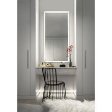 """See Details - Ryame™ 30"""" Lighted Mirror Black"""