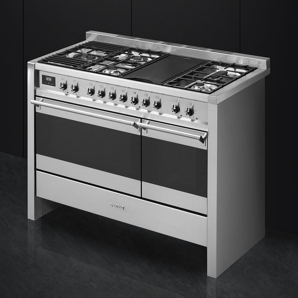"Free-standing Dual Fuel Dual Cavity ""Opera"" Range Approx. 48"" Stainless Steel Gas Rangetop With Electric Grill Photo #2"