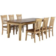 See Details - Rectangular Extendable Dining Table (7 piece)