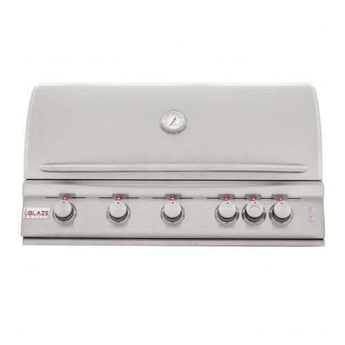 Blaze Grills - Blaze 40 Inch 5-Burner LTE Gas Grill with Rear Burner and Built-in Lighting System, With Fuel type - Propane