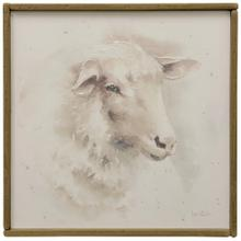 Farm Animals II  Hand Embellished Print on Stretched Canvas & Framed in Reclaimed Wood  Hanging Ha