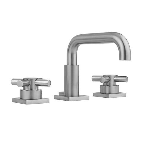 Product Image - White - Downtown Contempo Faucet with Square Escutcheons & Contempo Cross Handles -1.2 GPM
