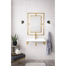 """See Details - Boston 31.5"""" Wall Brackets, Radiant Gold, White Glossy Resin Counterto"""