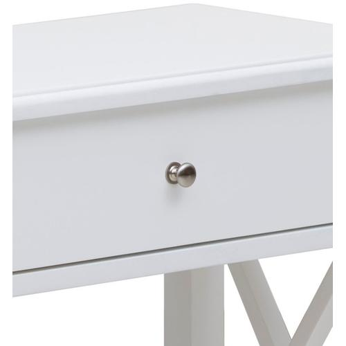Accentrics Home - White Open 'X' Leg Side Table
