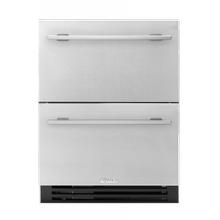 24 Inch Solid Stainless Door ADA Height Undercounter Refrigerator Drawer