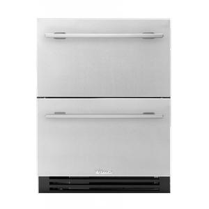 True Residential24 Inch Solid Stainless Door ADA Height Undercounter Refrigerator Drawer