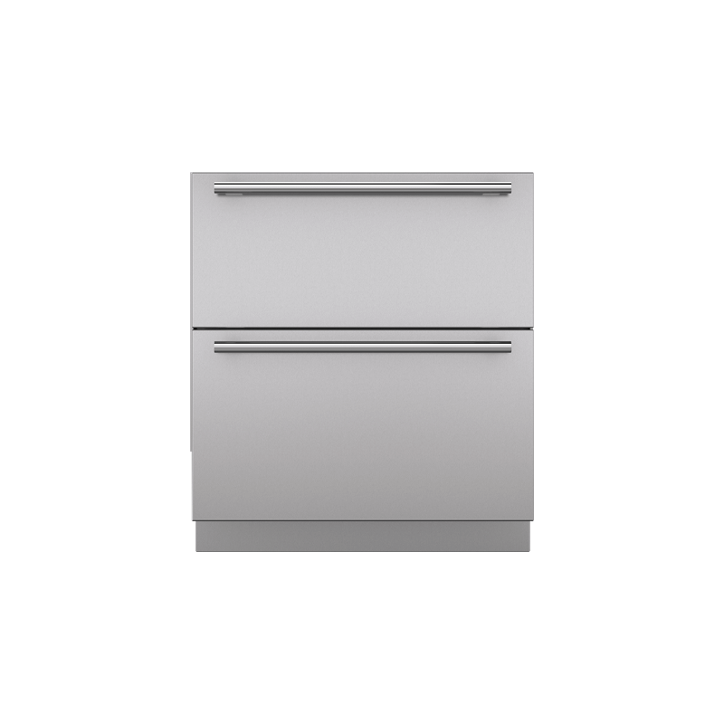 """Integrated 30"""" Drawer Panels with Tubular Handles"""