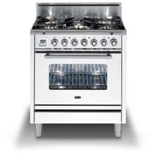 "30"" Professional Plus Series Freestanding Single Oven Gas Range with 5 Sealed Burners in True White"