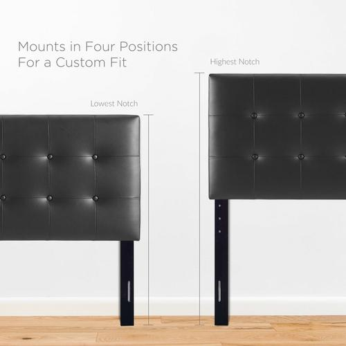 Emily Queen Upholstered Vinyl Headboard in Black