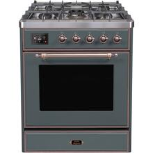 "30"" Inch Blue Grey Natural Gas Freestanding Range"