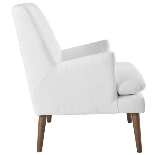 Leisure Upholstered Lounge Chair in White