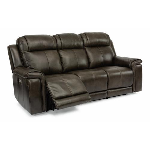 Flexsteel - Kingsley Power Reclining Sofa with Power Headrests and Lumbar