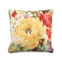 Toss Pillow with an Abstract Pattern of Multi Colors and Pink Specks